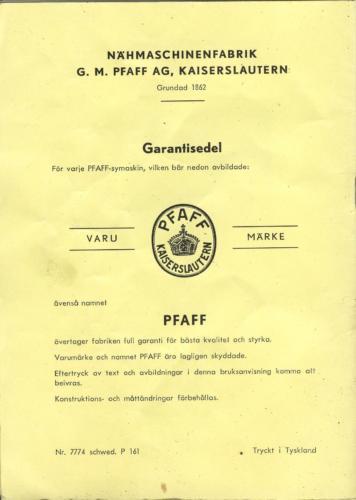PFAFF sid23