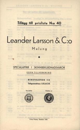 1936 LL prislista tillägg 01