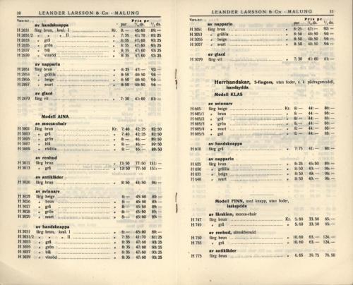 1936 LL prislista tillägg 06