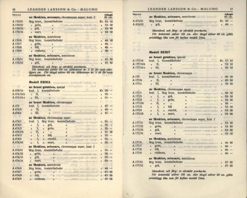 1936 LL prislista tillägg 09