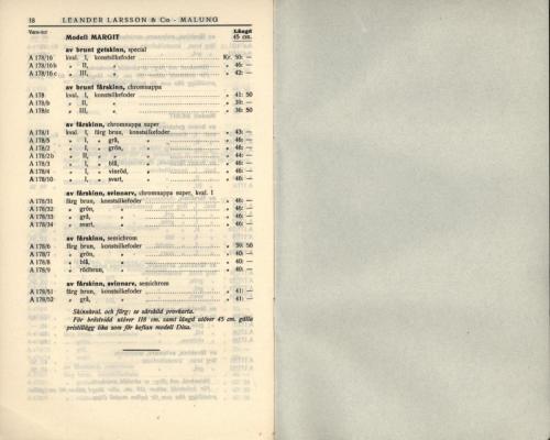 1936 LL prislista tillägg 10