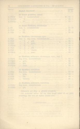 1936 LL prislista tillägg 11