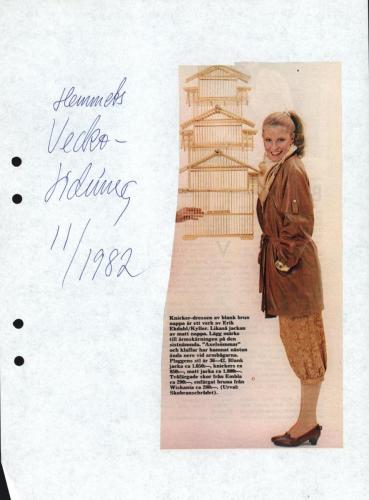 1982 Hemmets veckotidning