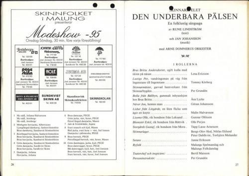 1995 Skinnarspelsprogram 15