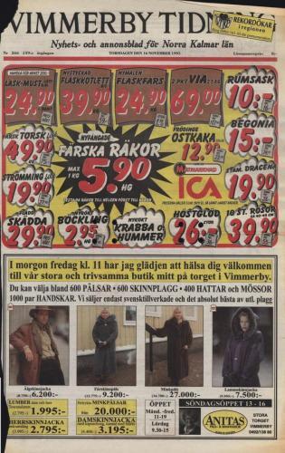 19951116 Vimmerby tidning
