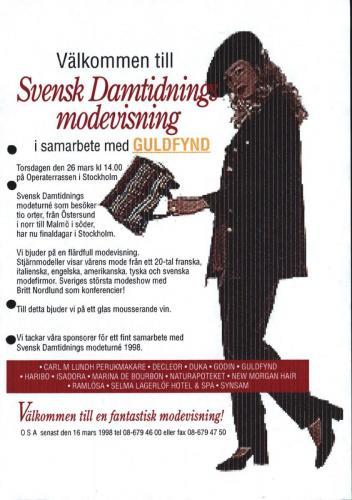 1998 Svensk damtidning modeturne