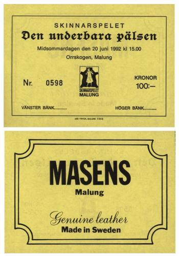Biljetter skinnarspelet 1992