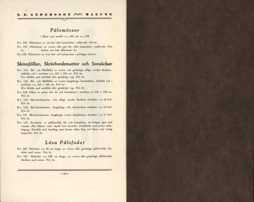 Katalog NE Andersson (PG) 19