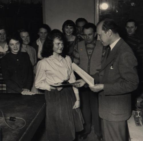 Kvällskurs 1958-59 Iris Malmén