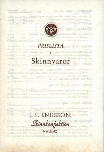 LF Emilsson Prislista 01