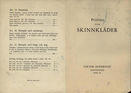 Sundkvist skinn prislista 03