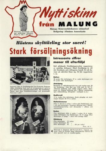 Tidningen Nytt i skinn 1958 blad 01