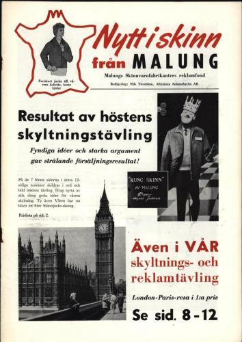 Tidningen Nytt i skinn 1959 blad 01