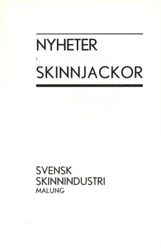 Nyheter Svensk skinnindustri 01