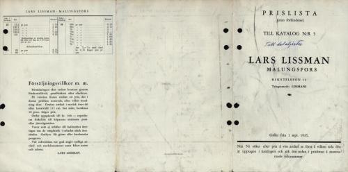 1935 Prislista Lissmans 01