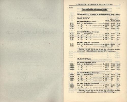 1936 LL prislista tillägg 02