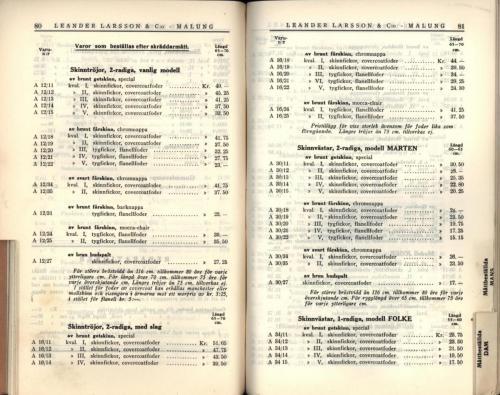 1936 LL prislista42