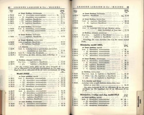 1936 LL prislista43