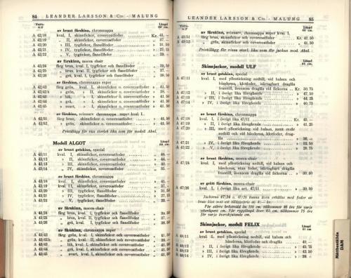 1936 LL prislista44