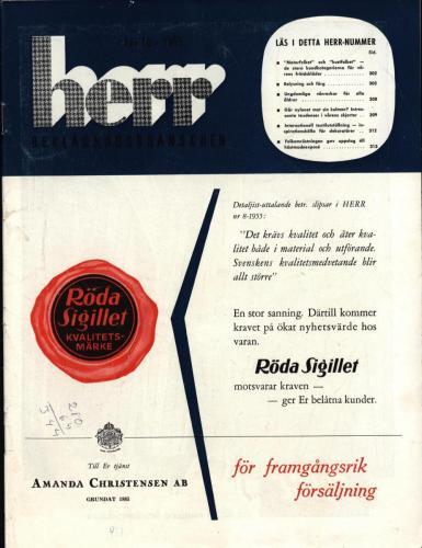 1955 Herrbeklädnadsbranschen framsida