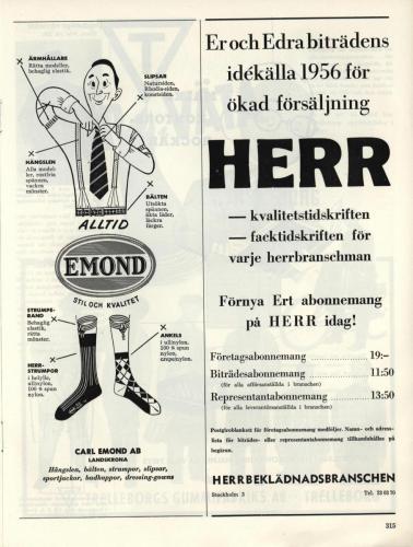 1955 Herrbeklädnadsbranschen sid 315