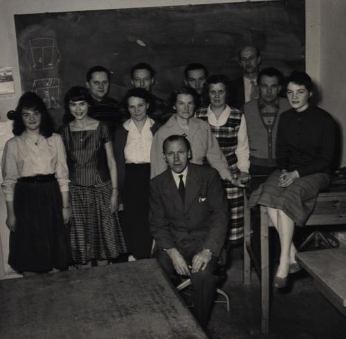Kvällskurs 1958-59 (Namn finns)