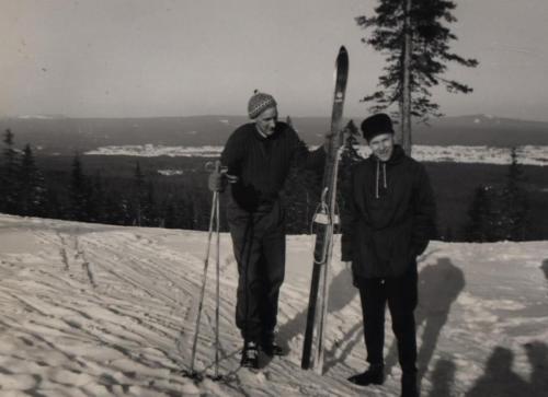 Skidutflykt Byråsen 1960 bild 01